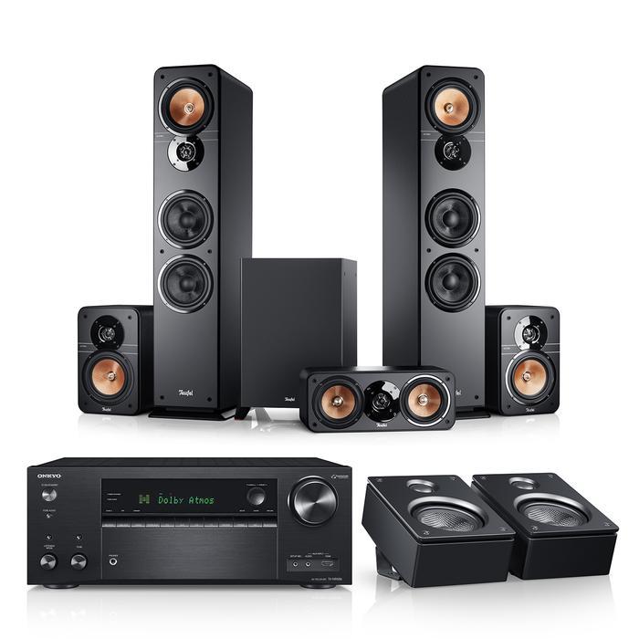 Teufel Ultima 40 Surround AVR für Dolby Atmos 5.1.2-Set Dolby Atmos Lautsprecher